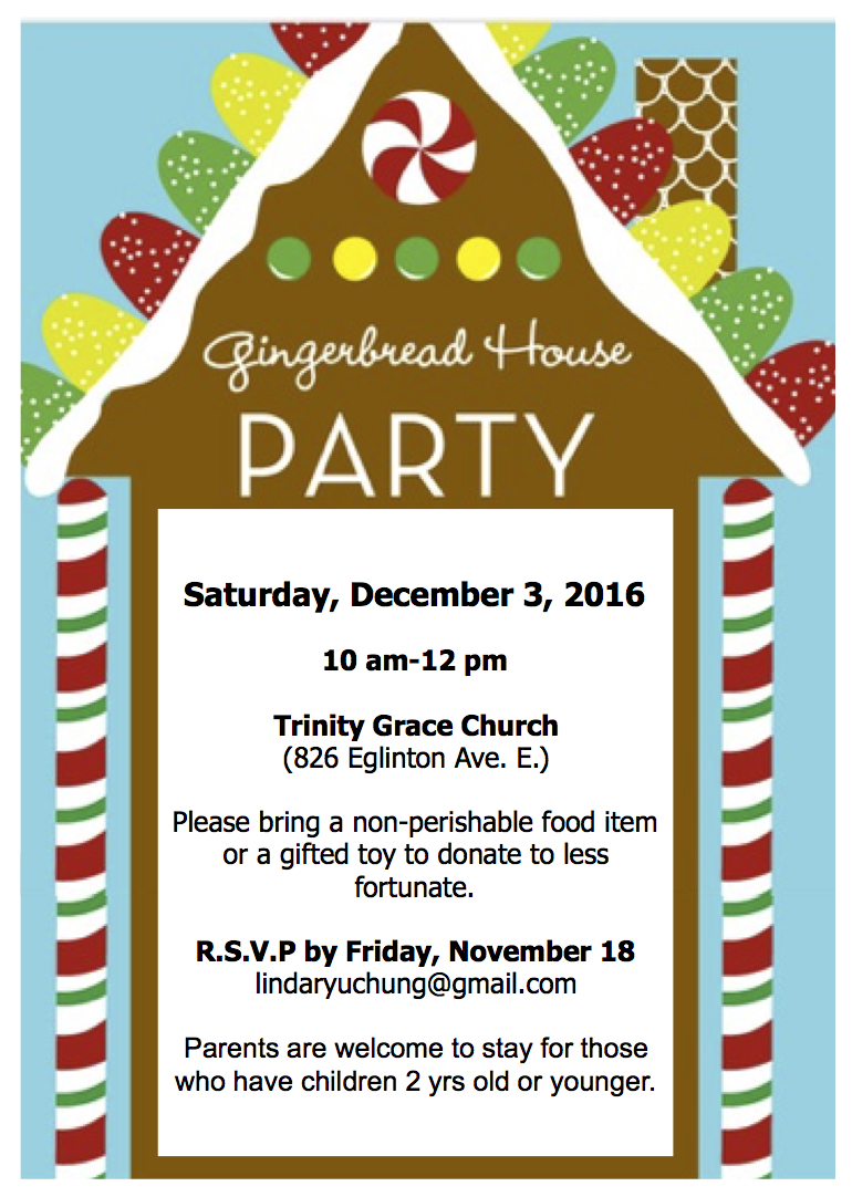 Gingerbread House Party   Trinity Grace Church